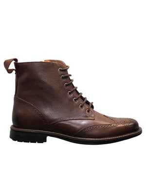 Savelli 2844 Mens Brown Leather Lace Up Ankle Boot