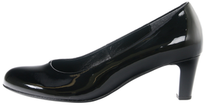 Gabor 75.200.77 Ladies Black Patent Leather Court Shoe