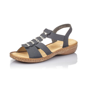 Rieker 62850-14 Ladies Navy Summer Sandal