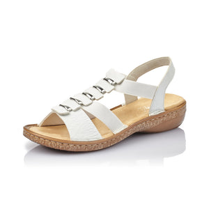 Rieker 62850-80 Ladies White Summer Sandals
