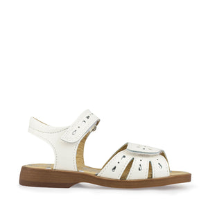 Start-Rite Flutter 5182-4 Girls White Patent Leather Summer Sandals F fit - elevate your sole