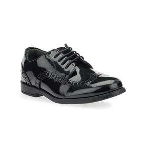 Start-Rite Brogue Pri 2745-3 Girls Black Patent Lace Up School Shoe - elevate your sole