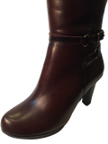 Yaku's Ladies Chestnut Brown Leather Knee High Boots - elevate your sole