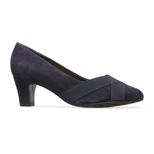 Van Dal Oakes Midnight Suede / Elastic Leather Court Shoes EE