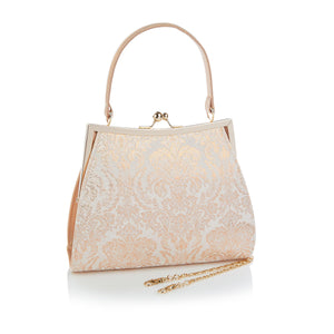 Ruby Shoo Toulouse Ladies Rose Gold Evening Clutch Handbag