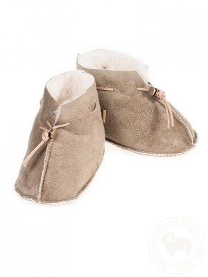 Yoko Baby Suede Velour Brown Boot Slippers