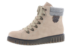 Rieker Y3440-31 Rosa Ladies Lace Up Ankle Boots with Side Zip - elevate your sole
