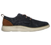 Skechers 65910 Status 2.0 Pexton Mens Navy Denim Lace Up Shoes