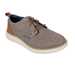 Skechers  Men's 65910 Status Pexton Taupe  Air Cooled Memory Foam Lace Up Casual Shoe