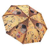 Galleria Umbrella Klimt 'The Kiss' Folding Brolly - elevate your sole