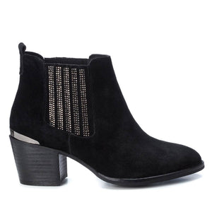 Carmela 66916 Black Suede Heeled Ankle Chelsea Boots - elevate your sole