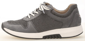 Gabor 46.946.49 Ladies Grey River Leather Lace Up Trainers
