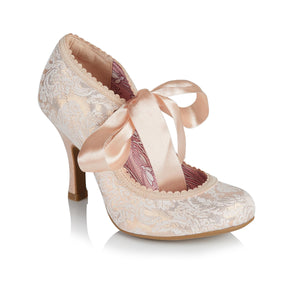 Ruby Shoo Willow Ladies Rose Gold High Heel Wedding Shoes
