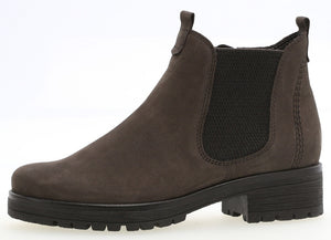 Gabor 92.091.31 Grey Nubuck Leather Ladies Chelsea Boot