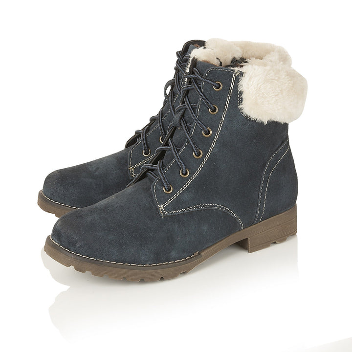 Lotus Vardy Navy Suede Ankle Boots - elevate your sole