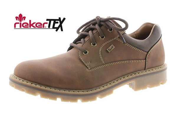 Rieker 14020-26 Tex Mens Brown Lace Up Shoes