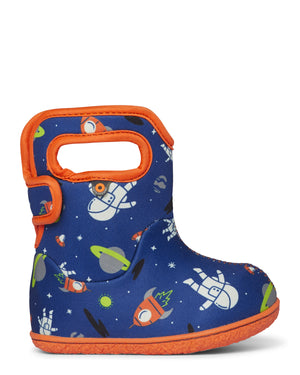 Bogs Baby Space Kids Blue Multi Waterproof Wellington Boots