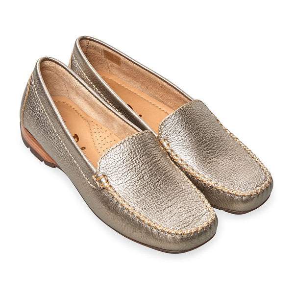 3c95370b19 Van Dal Sanson - Platino Leather Loafers