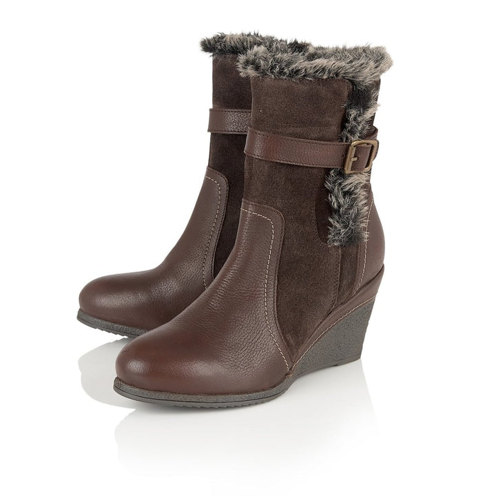 Lotus Varda Brown Leather Knee High Boots - elevate your sole