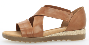 Gabor 82.711.55 Ladies Peanut Leather Back In Sandal