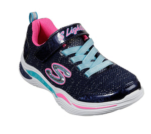 Skechers 996472L Power Petals Girls Navy Multi Trainers