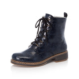 Rieker 73014-14 Ladies Ocean Lace Up Military Style Ankle Boots