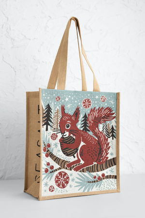 Seasalt Jute Shopper Red Squirrel