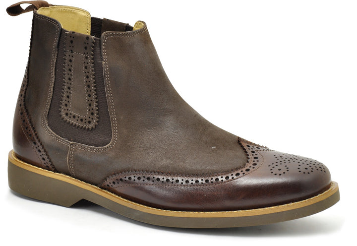 Anatomic Gustavo Touch Vintage Burgundy Brown Leather Boots - elevate your sole