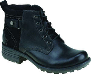 Earth Spirit Paxton 2 Ladies Black Leather Ankle Boots