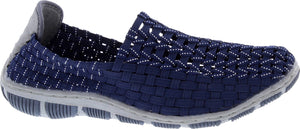 Adesso A5335 Layla Navy Silver Elasticated Full Shoes
