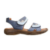 Josef Seibel Debra Ladies Blue Kombi Leather Rip Tape Sandals