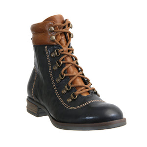 Josef Seibel Sanja 09 Ladies Ocean Blue Kombi Lace Up Boots