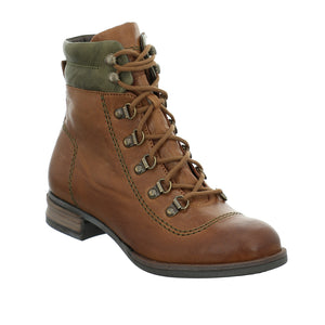 Josef Seibel Sanja 09 Ladies Cognac Brown Kombi Lace Up Boots