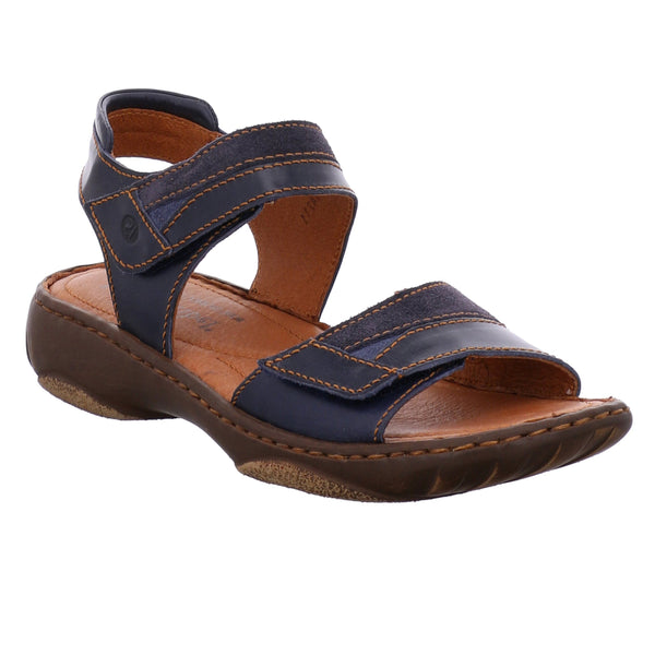 Josef Seibel Debra 19 Denim Blue Leather Sandals