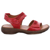 Josef Seibel Debra 19 Red Leather Walking Sandals - elevate your sole