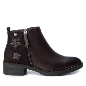 Carmela 66966 Brown Leather Zip Up Ankle Boots - elevate your sole
