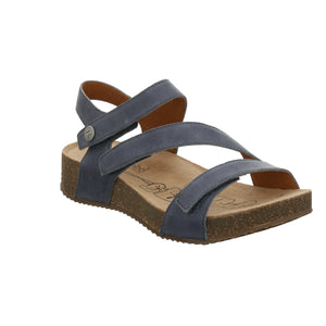Josef Seibel Tonga 25 Jeans Blue Leather Sandals - elevate your sole