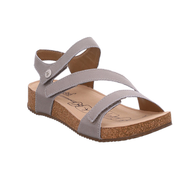 Josef Seibel Tonga 25 Cristal Silver Leather Sandals
