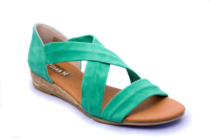 Pinaz 317AO Zara Mint Suede Sandals - elevate your sole