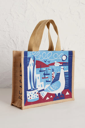 Seasalt Cute Jute Falmouth Doves Bag