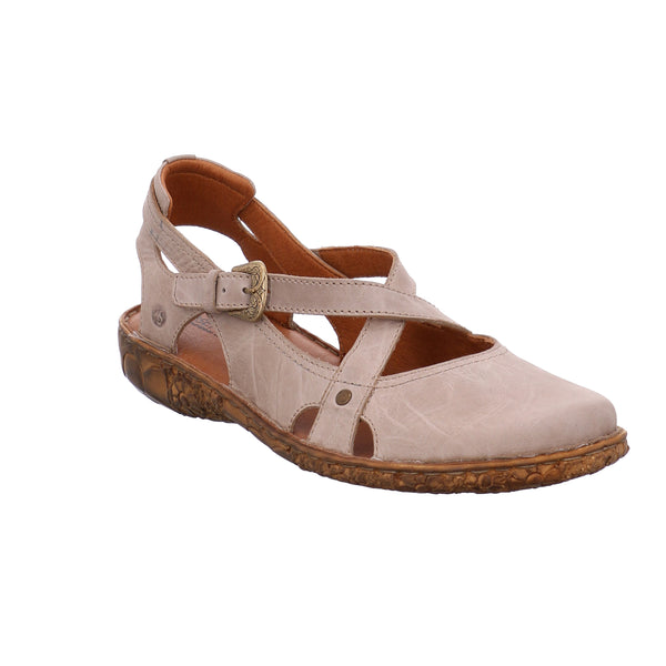 Josef Seibel Rosalie 13 Cream Leather Walking Sandals