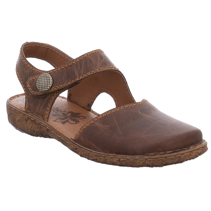 Josef Seibel Rosalie 27 Brown 'Brandy' Leather Walking Sandals - elevate your sole