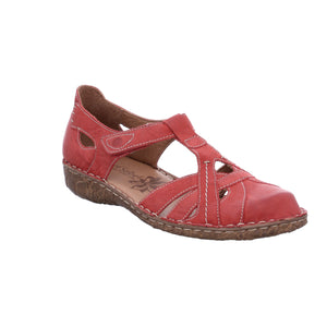 Josef Seibel Rosalie 29 Hibiscus Red Leather Summer Shoes - elevate your sole