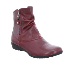 Josef Seibel Naly 24 Bordeaux Leather Double Zip Ankle Boot - elevate your sole