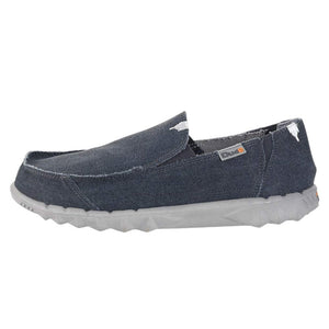 Dude Farty Classic Mens Oceano Navy Slip On Shoes