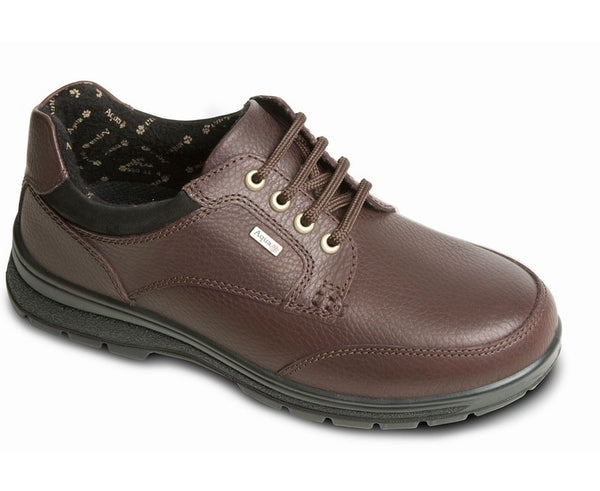 Padders Peak Brown Leather Waterproof Walking Shoes