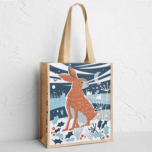 Seasalt Jute Shopper Hoppy Christmas Bag