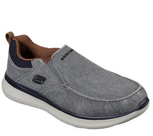 Skechers 210025 Delson 2.0 Larwin Mens Grey Slip On Shoes