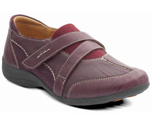 Padders Maple Plum Leather Shoes E Fitting - elevate your sole