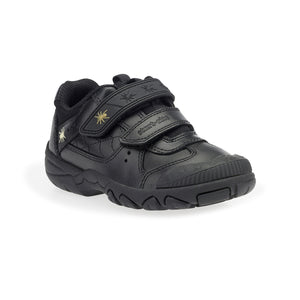 Start-Rite Tarantula 2272-7 Boys Black Leather Rip-Tape Fastening School Shoe - elevate your sole
